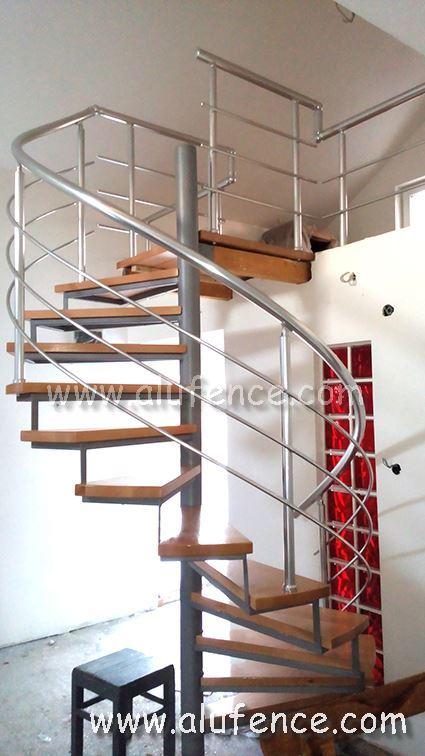 Aluminijumski gelender za kružne stepenice