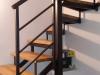 Metalno stepenište sa gazištima od Hrasta